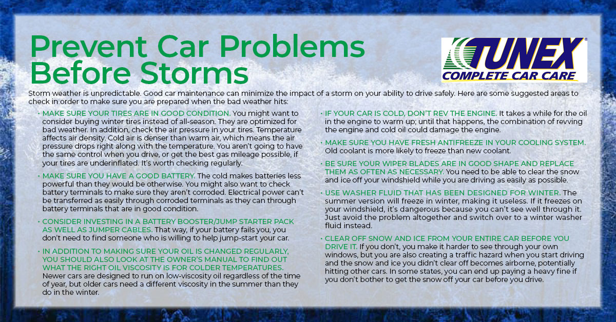 Prevent Car Problems Before Storms-